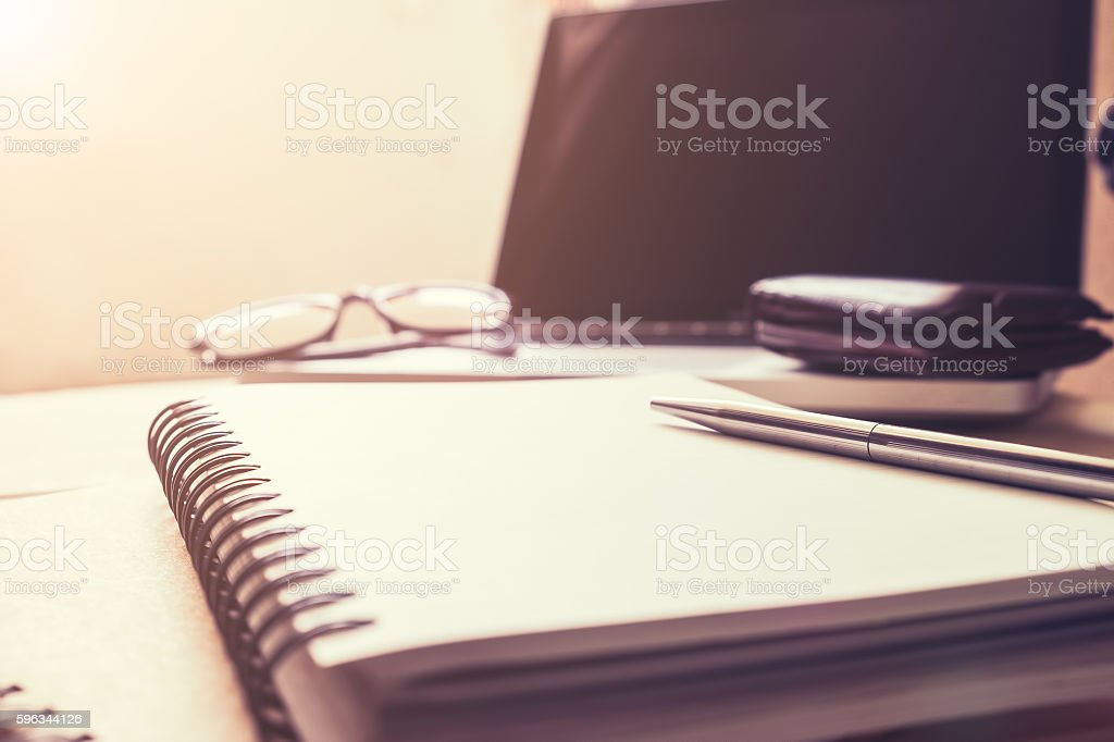 vintage of office desk royalty-free stock photo