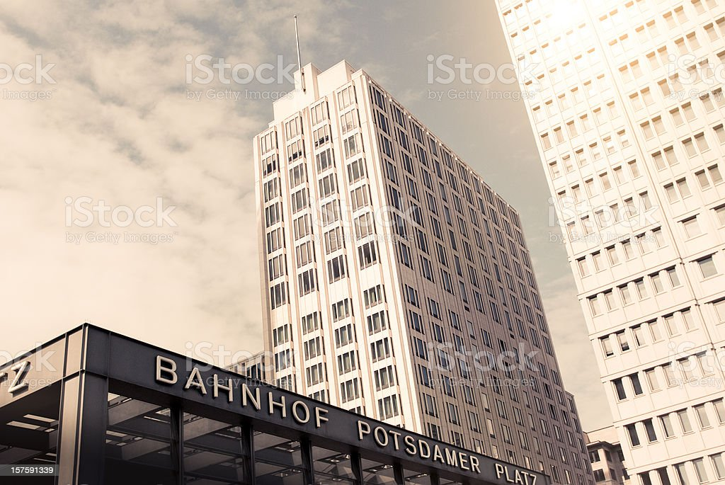 Vintage Office Building stock photo
