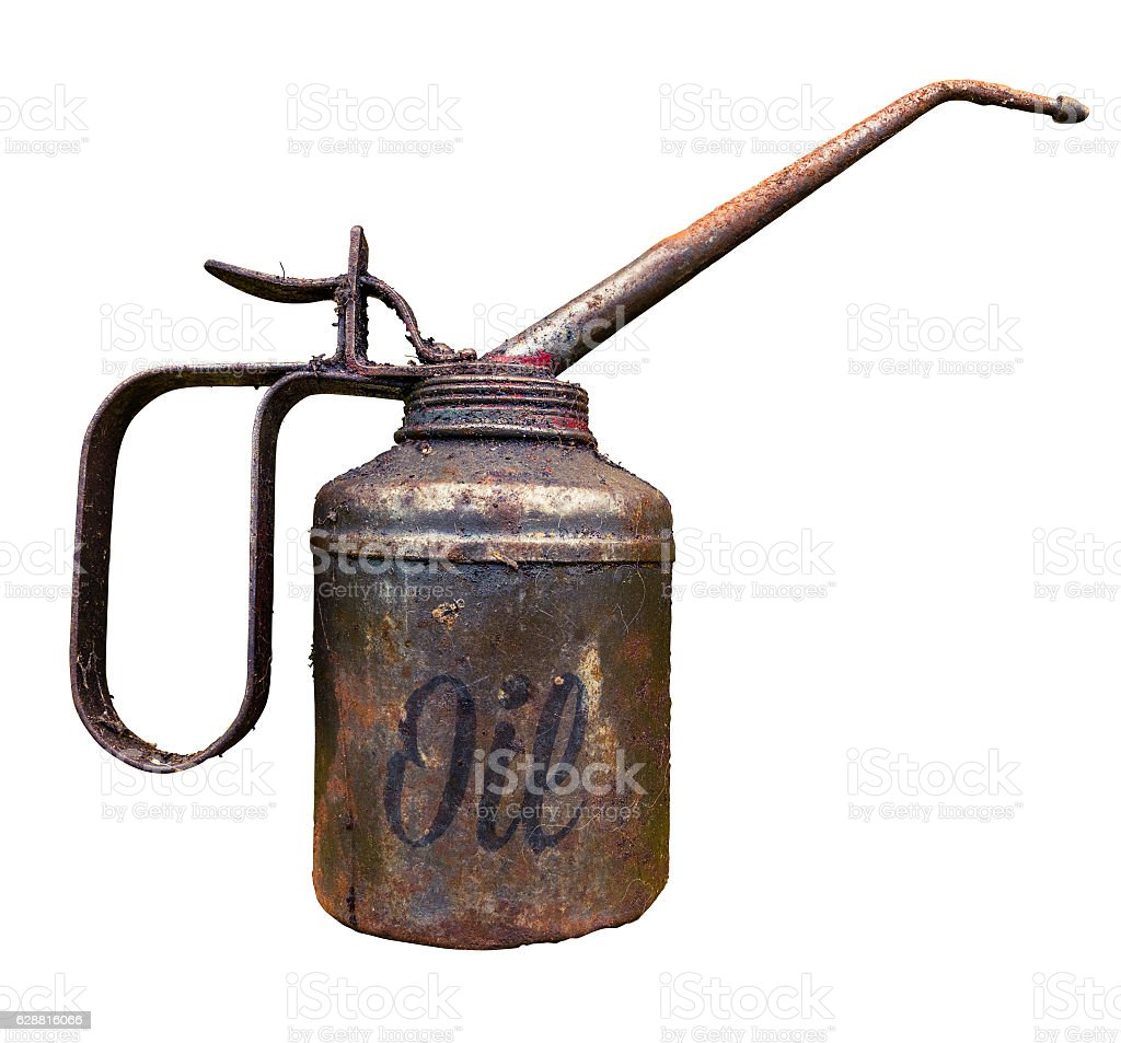 Vintage Oil Can stock photo