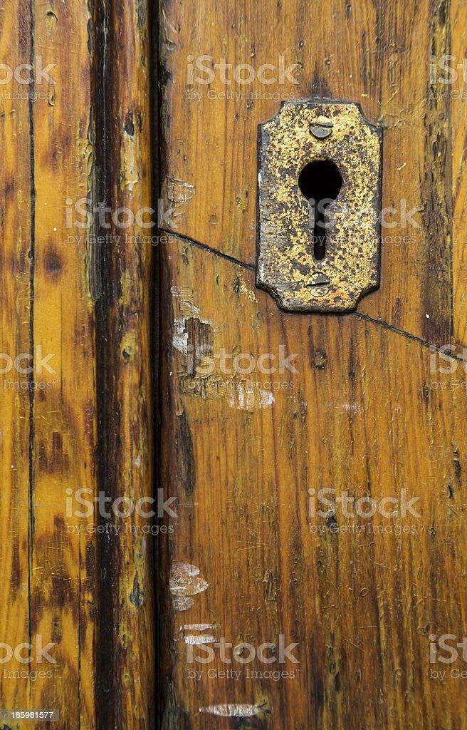 vintage old door lock royalty-free stock photo
