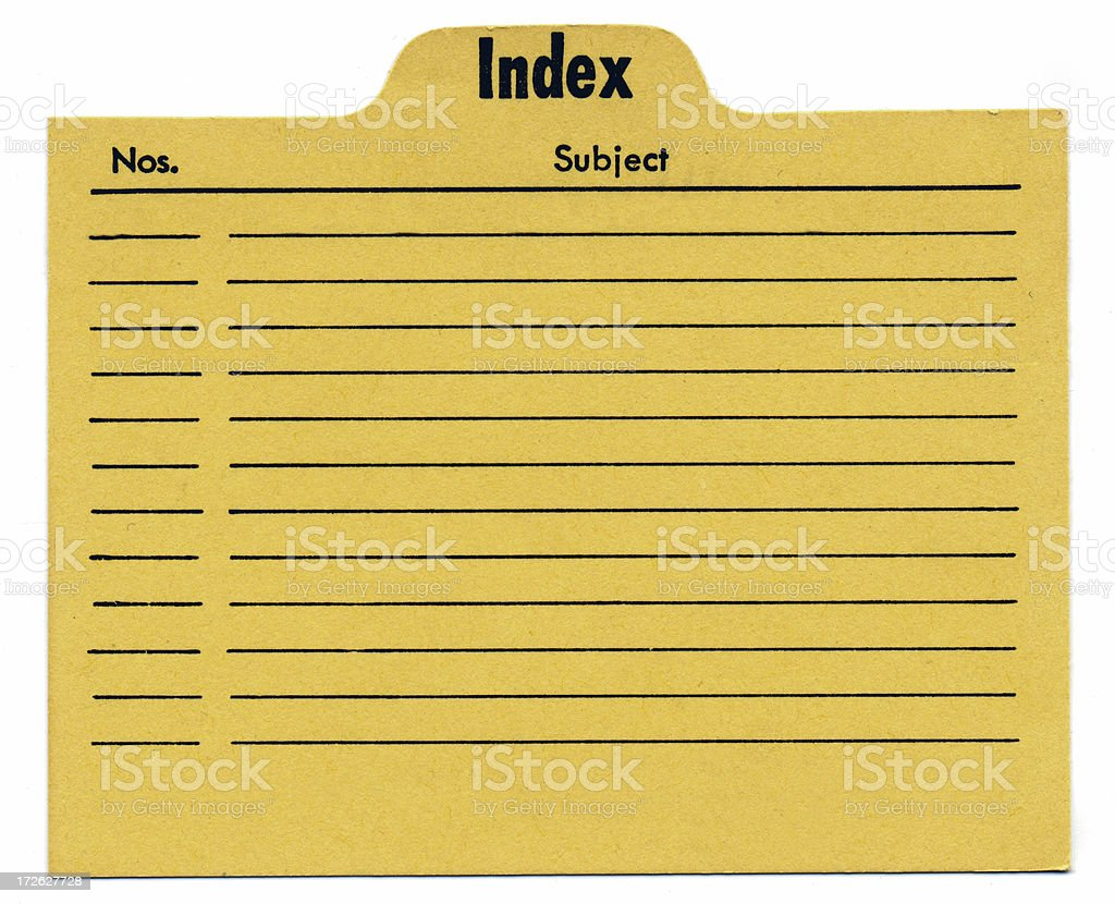 Vintage Old Index Card royalty-free stock photo