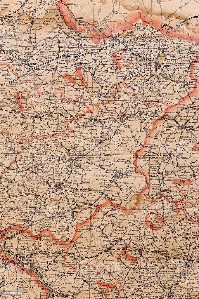 vintage old map stock photo