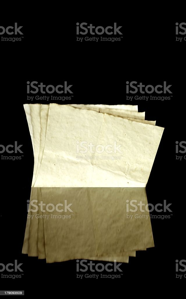 Vintage old paper pages, texture and copyspace royalty-free stock photo
