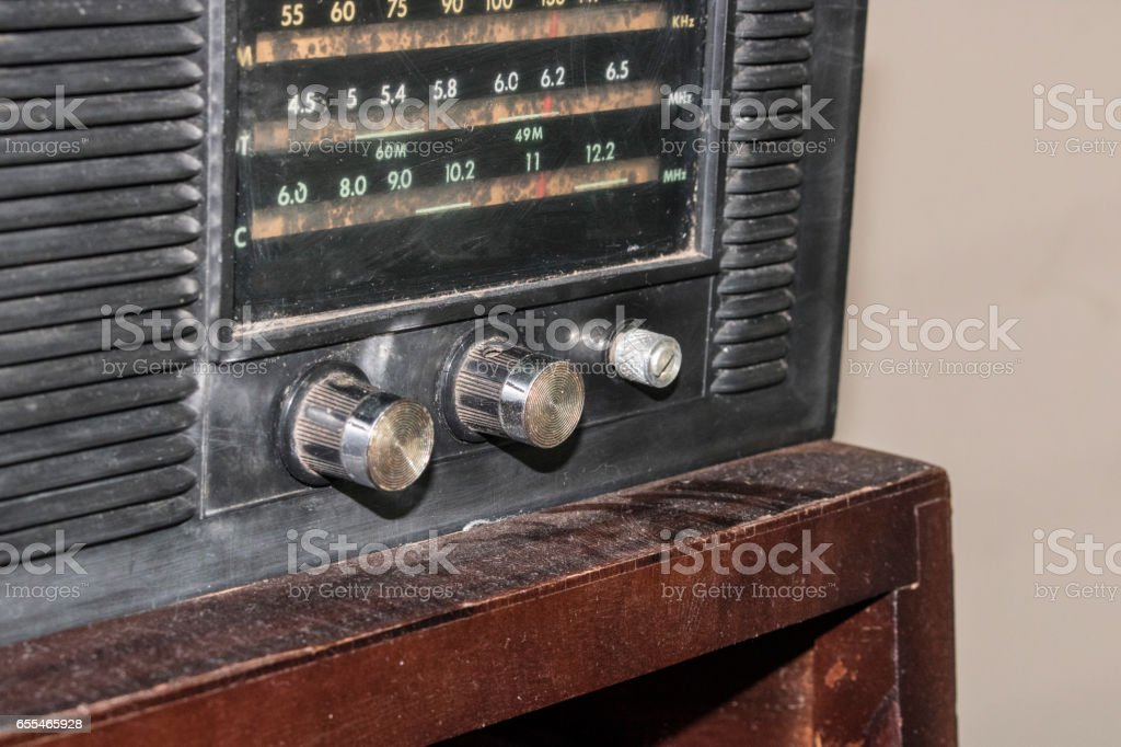 Vintage - Old retro TV and Radio stock photo