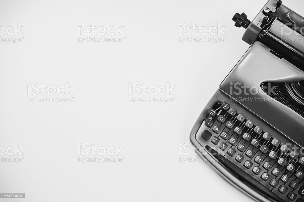 Vintage - Old typewriter retro - 80's concept image stock photo