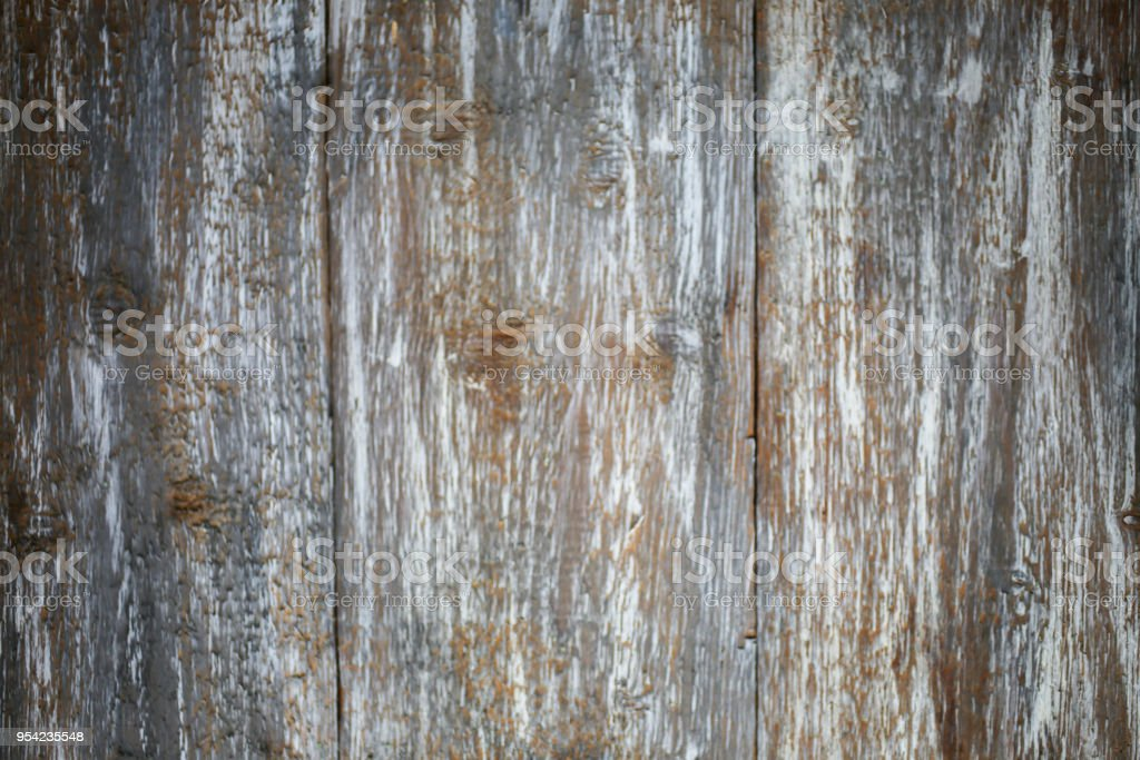 Vintage old wooden background. Grey and brown antique panels. Rough texture. Shaggy and grained floor. stock photo