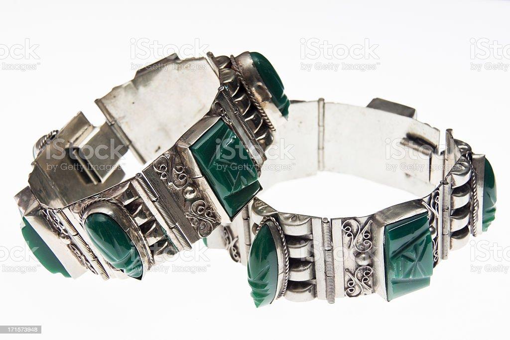 Vintage Onyx Bracelets royalty-free stock photo