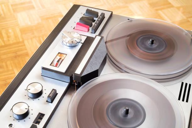 Vintage open Reel Tape Recorder, Nahaufnahme – Foto