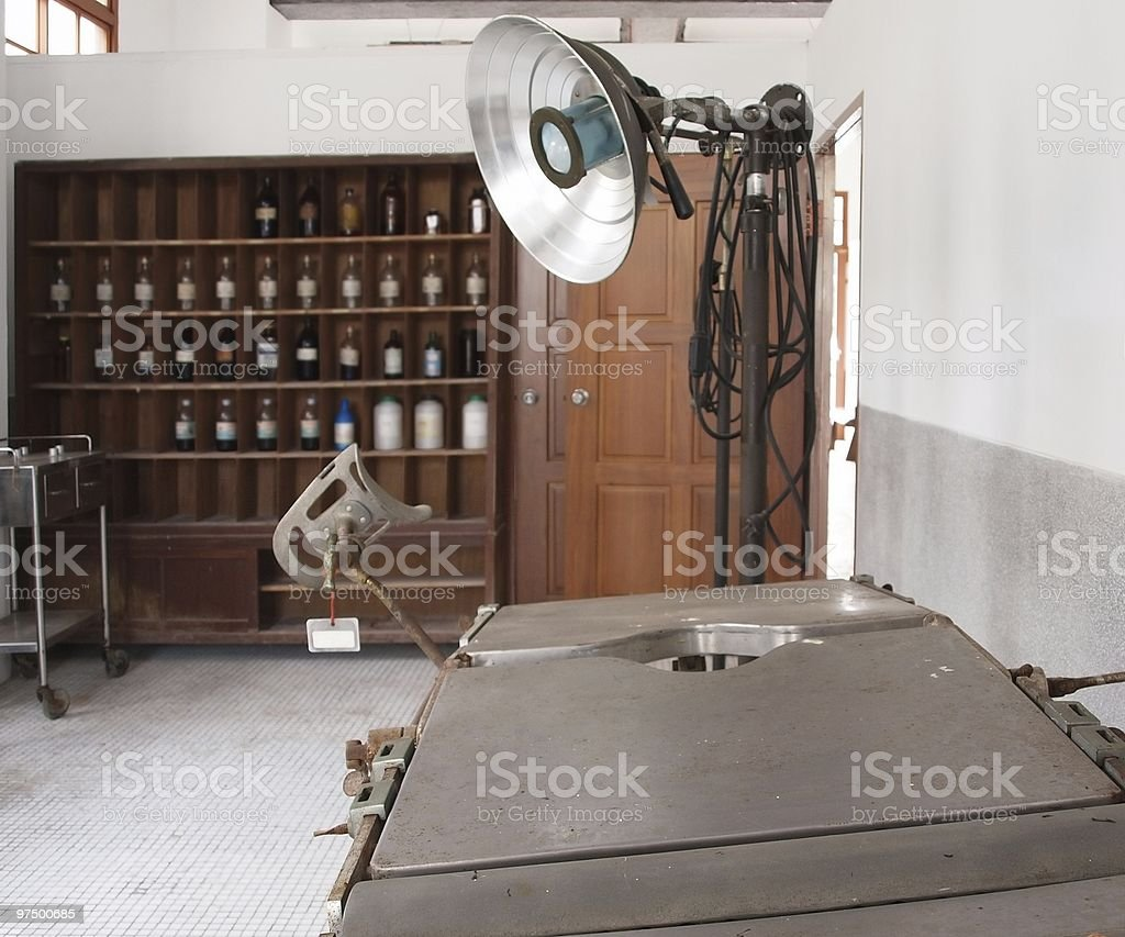 Vintage Operating Room royalty-free stock photo
