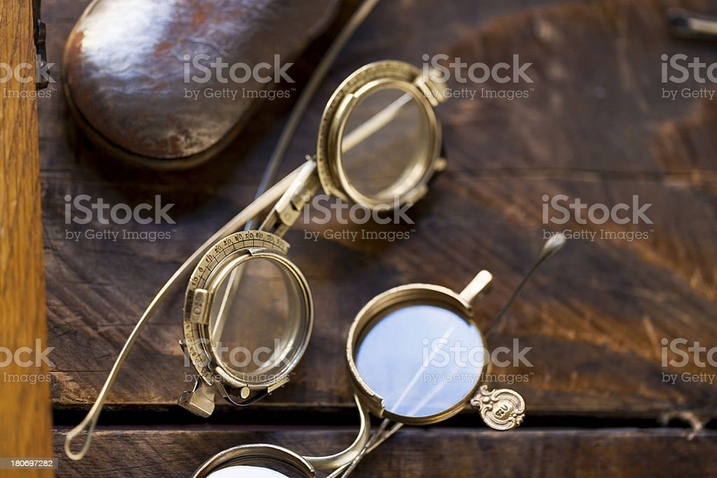 Vintage optometry - ophthalmology royalty-free stock photo