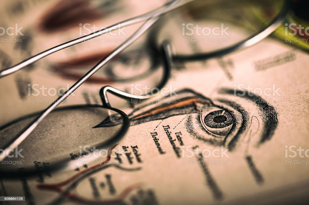 Vintage optometry stock photo