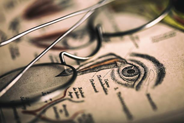 vintage optometry - illustration optician stock-fotos und bilder
