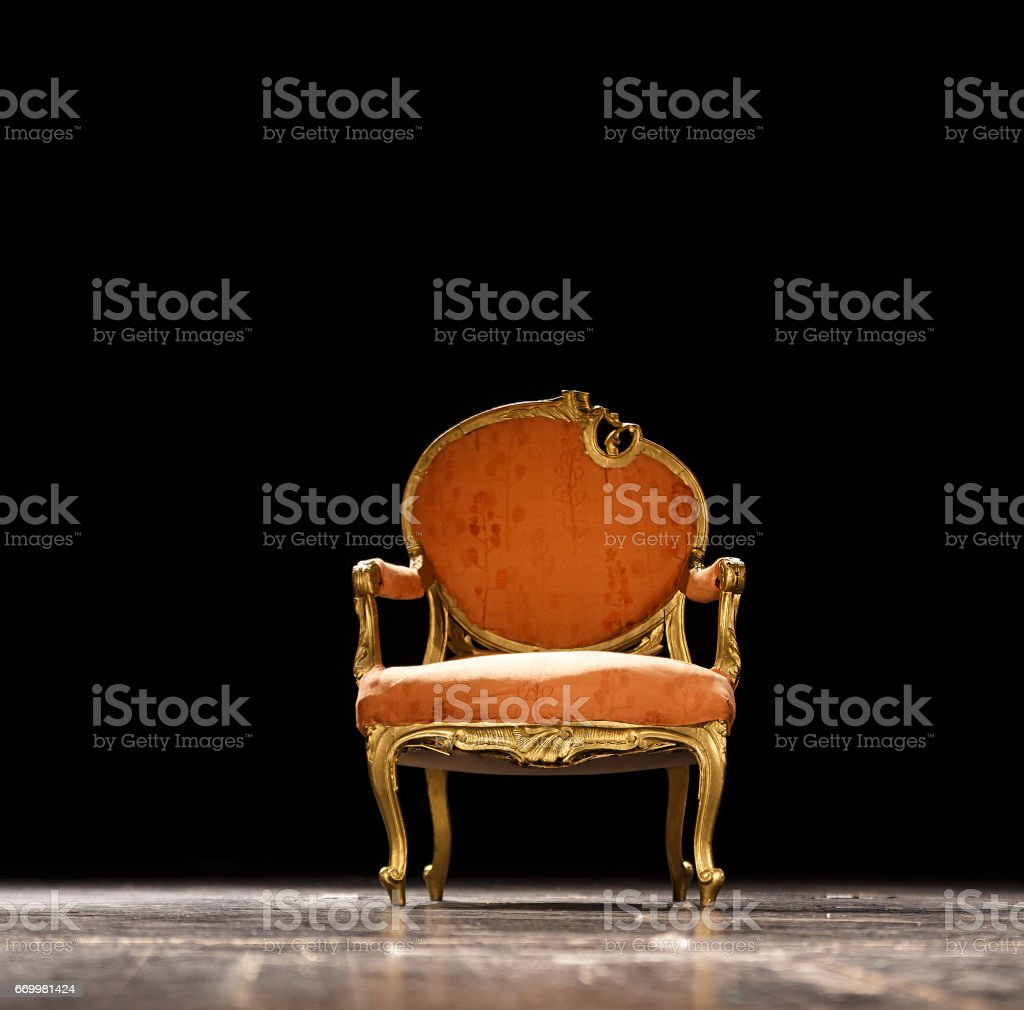 Vintage orange chair on the theater stage – Foto
