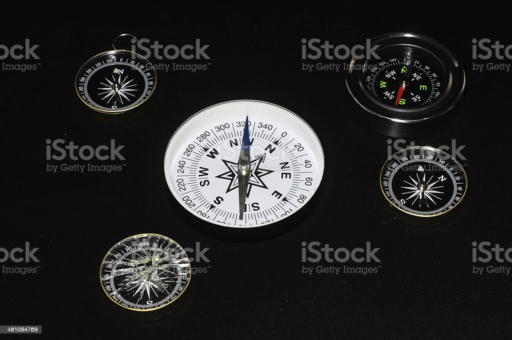 Vintage Orientation Tools royalty-free stock photo