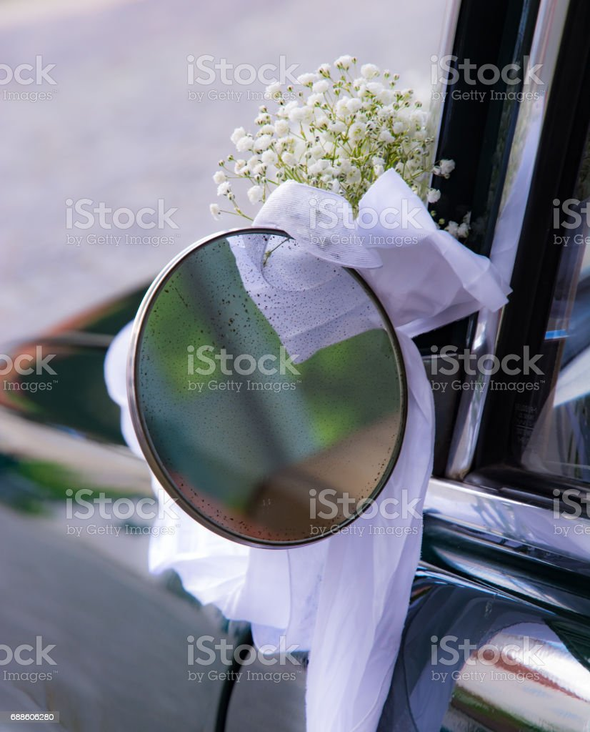 Vintage Outside Rear Mirror stock photo
