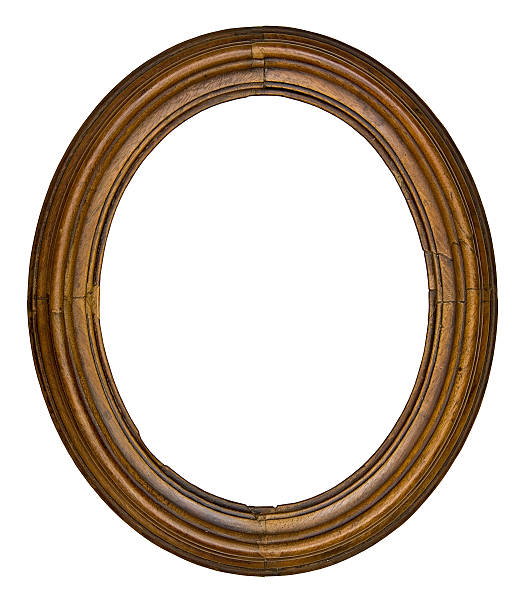 vintage oval frame - ellipse stock photos and pictures