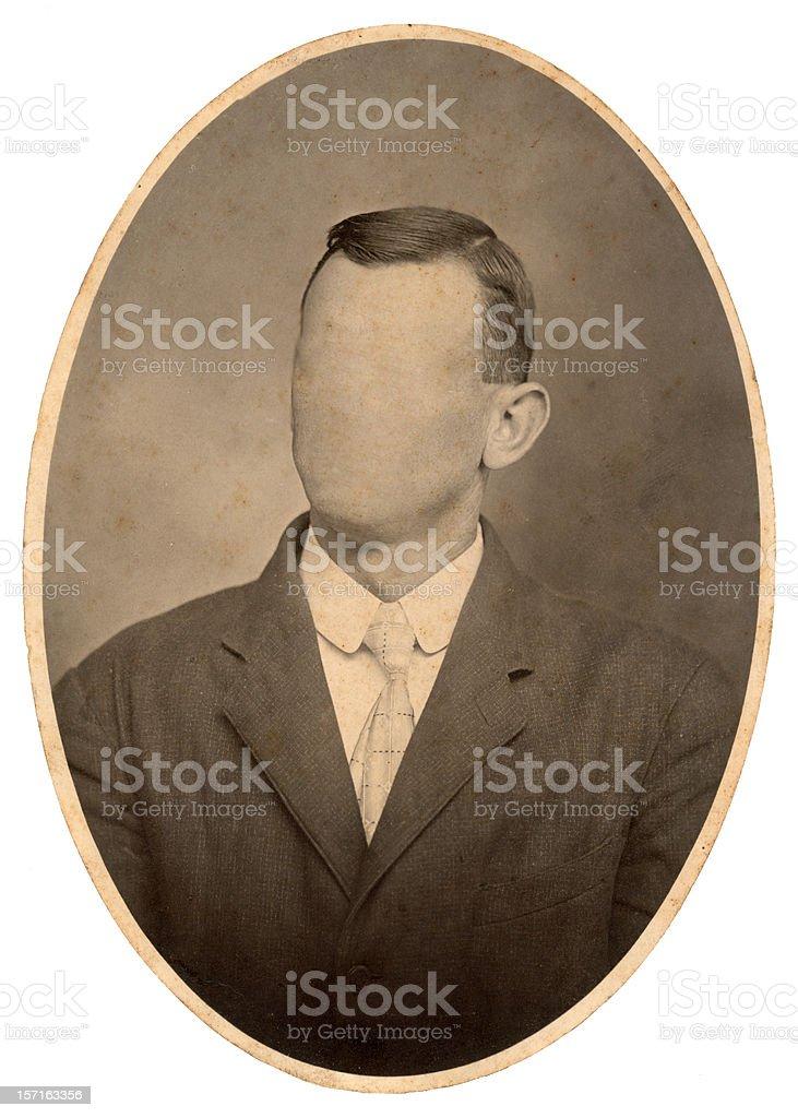 vintage oval portrait royalty-free stock photo