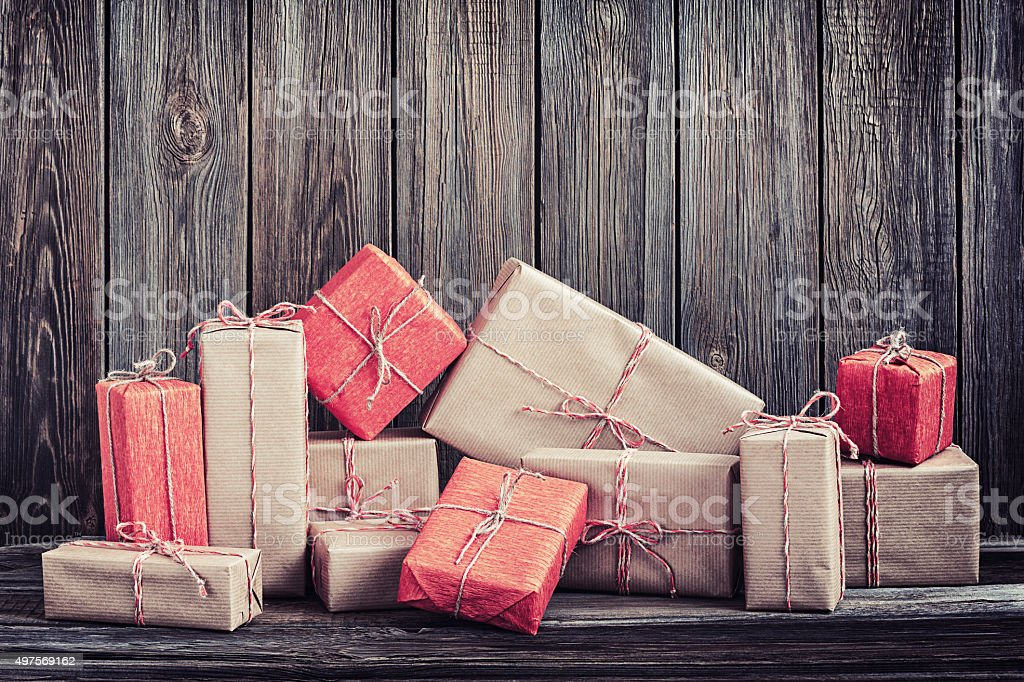 Vintage packages stock photo