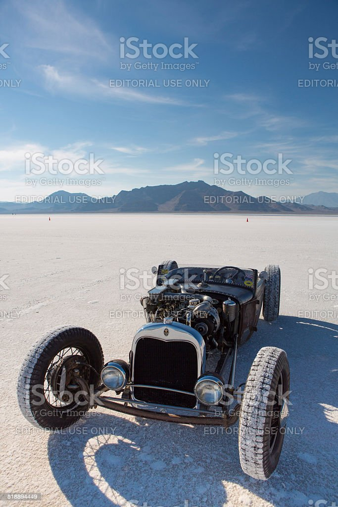 Vintage Packard racing car during the World of Speed 2012. stock photo
