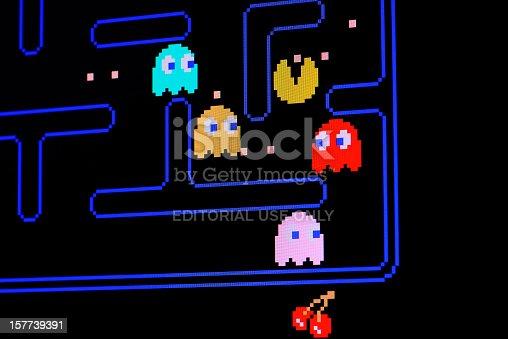 istock Vintage Pacman video game 157739391