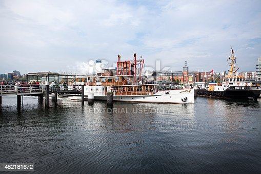 istock Vintage paddlesteamer FREYA in the harbor of Kiel, Germany 482181672