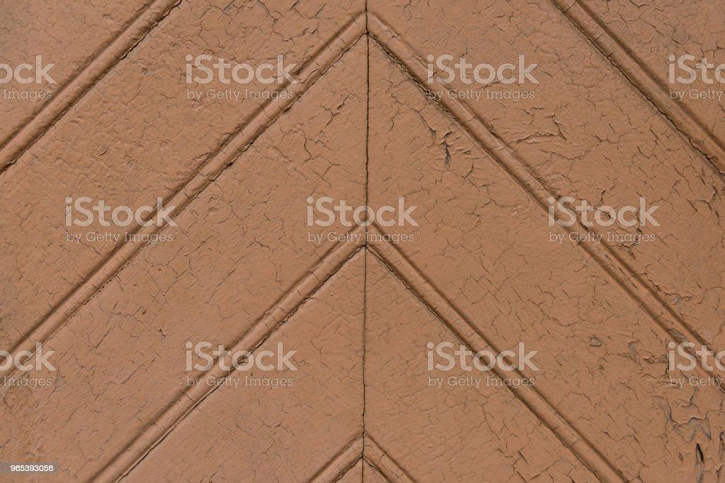Vintage painted brown wooden planks zbiór zdjęć royalty-free