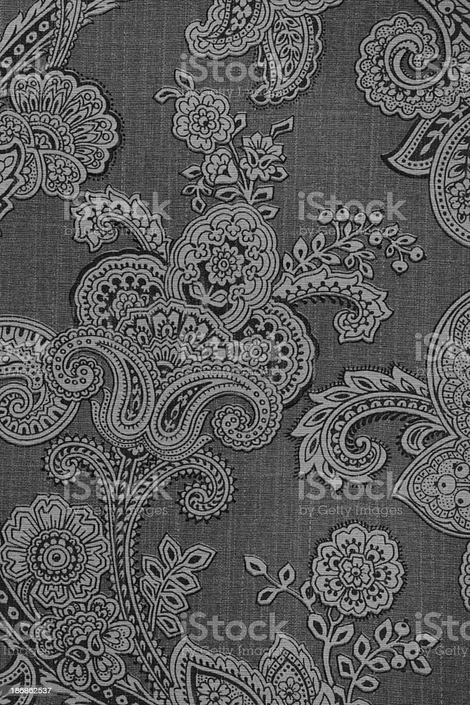 Vintage Paisley Retro Wallpaper stock photo