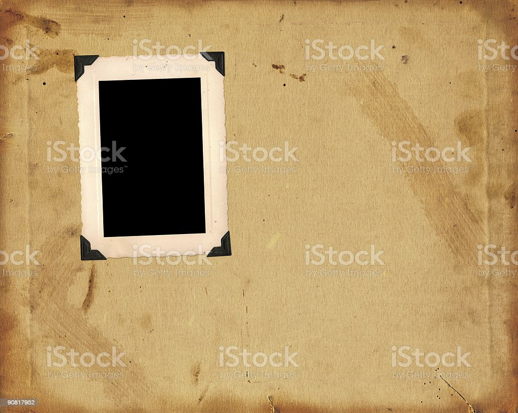 Vintage Paper and Photo Frame royalty-free stock photo
