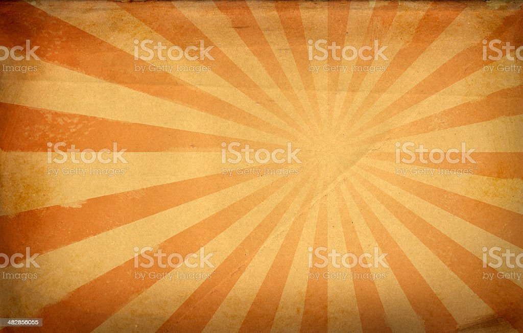 Vintage Paper Burst and Vignette royalty-free stock photo