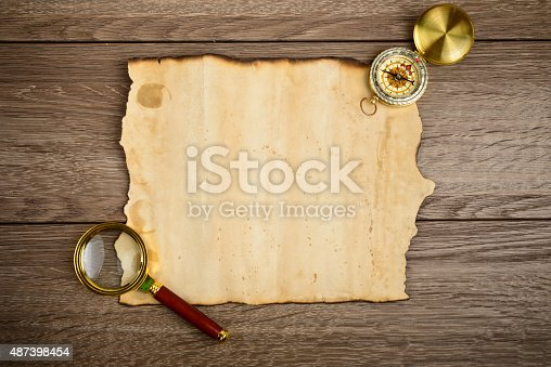 istock vintage paper for map or message 487398454