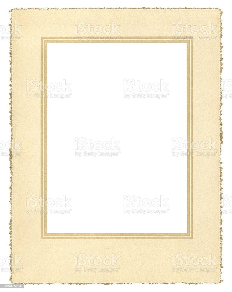 Vintage Paper Frame stock photo