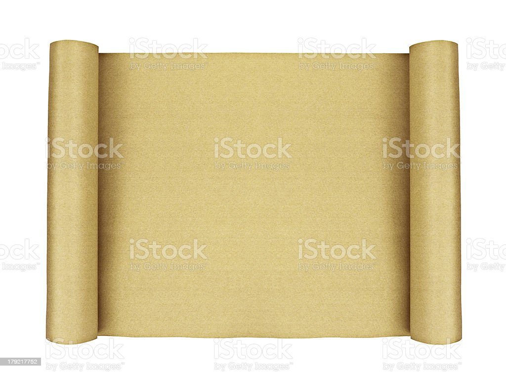 Vintage Paper isolated stock photo
