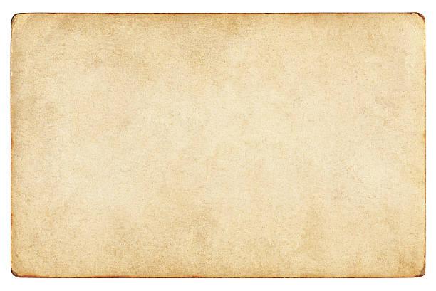 vintage papier isoliert (clipping-pfad enthalten) - klapprahmen stock-fotos und bilder