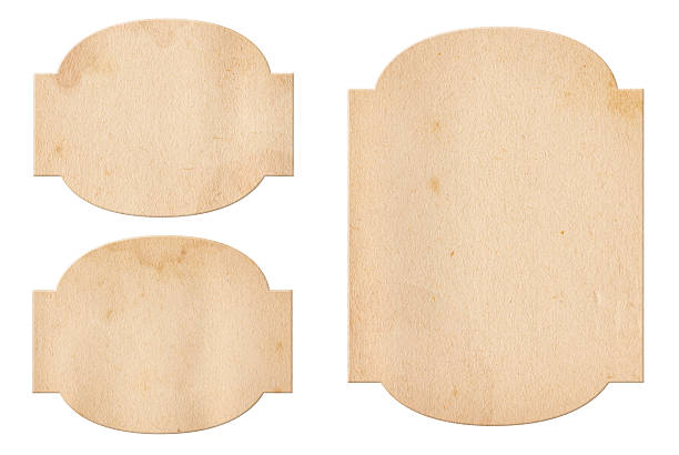 Vintage Paper Labels XXXL stock photo