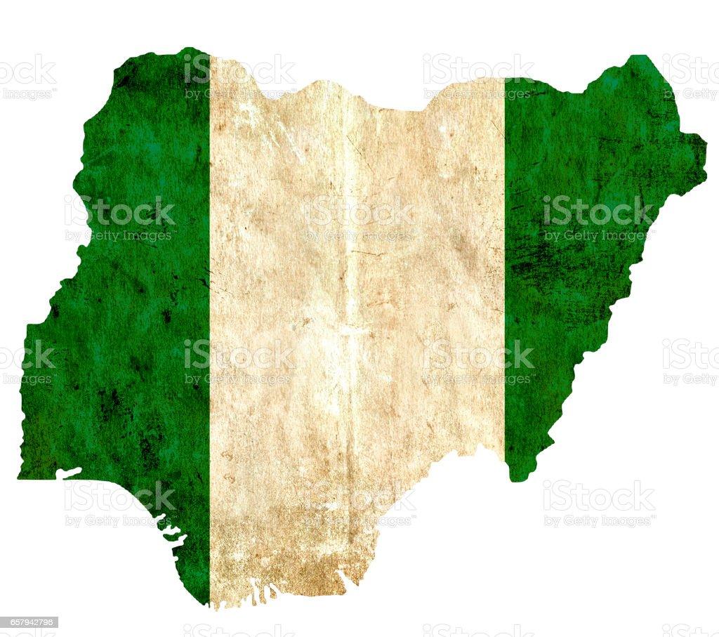 Mapa de papel vintage de Nigeria - foto de stock