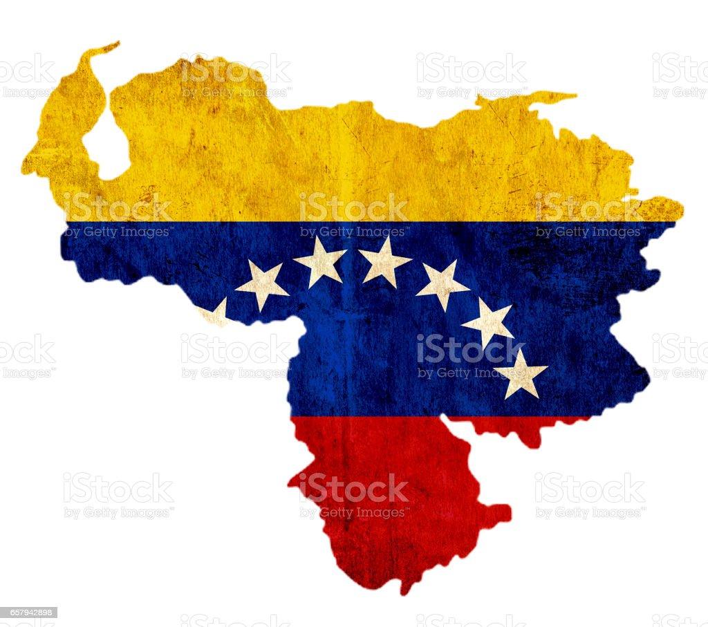 Mapa de papel vintage de Venezuela - foto de stock