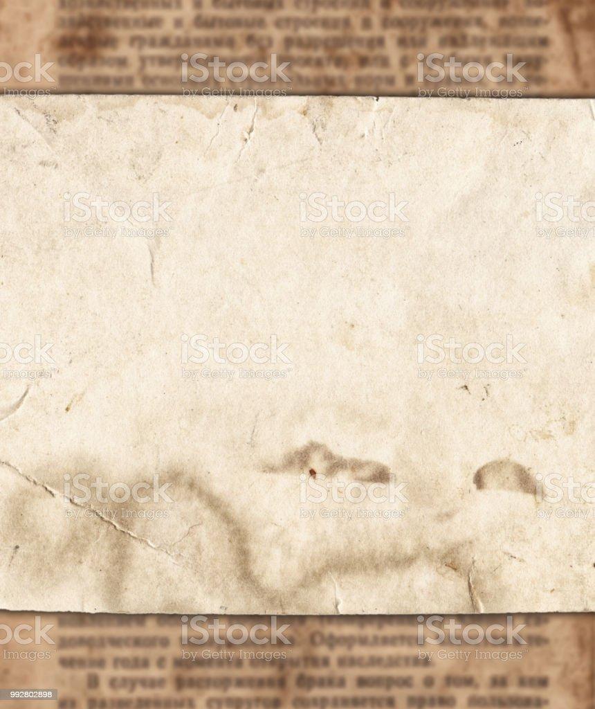 Papel Vintage Sobre Fondo De Textura De Periódico Viejo Foto De