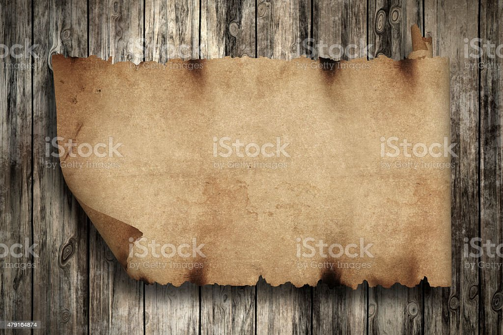 Vintage Paper on Wooden backgrounds stock photo