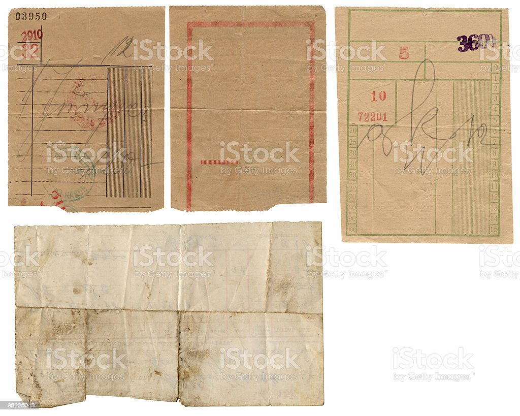 Vintage Paper Receipts XXL royalty-free stock photo