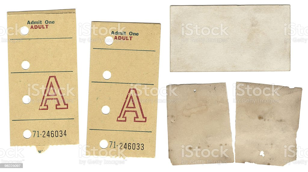 Vintage Paper Scraps XXL royalty-free stock photo