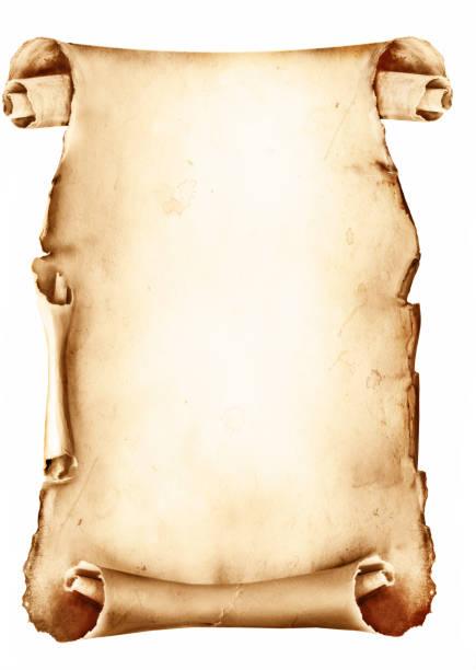 Vintage Papier scroll, isoliert auf weiss – Foto