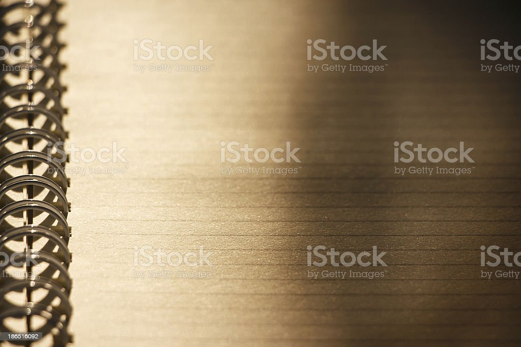 Vintage paper sheet (shallow DOF) royalty-free stock photo