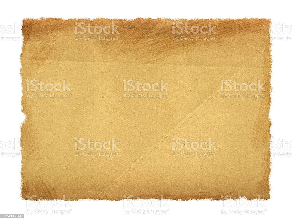 Vintage Paper w/ Ripped Edges royalty-free stock photo