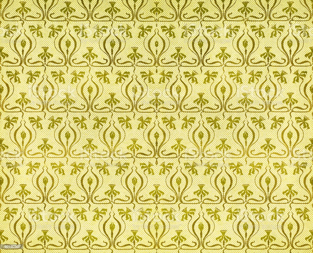 Vintage paper with art nouveau pattern of daffodils royalty-free stock photo