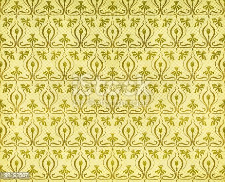 istock Vintage paper with art nouveau pattern of daffodils 92192507