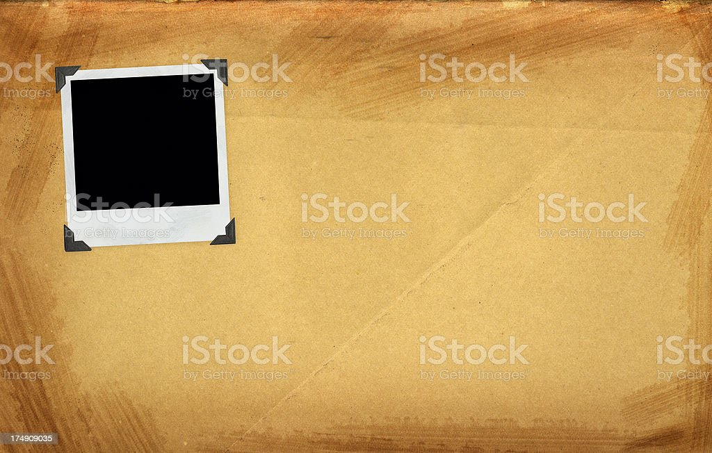 Vintage paper with emtpy photo frame royalty-free stock photo