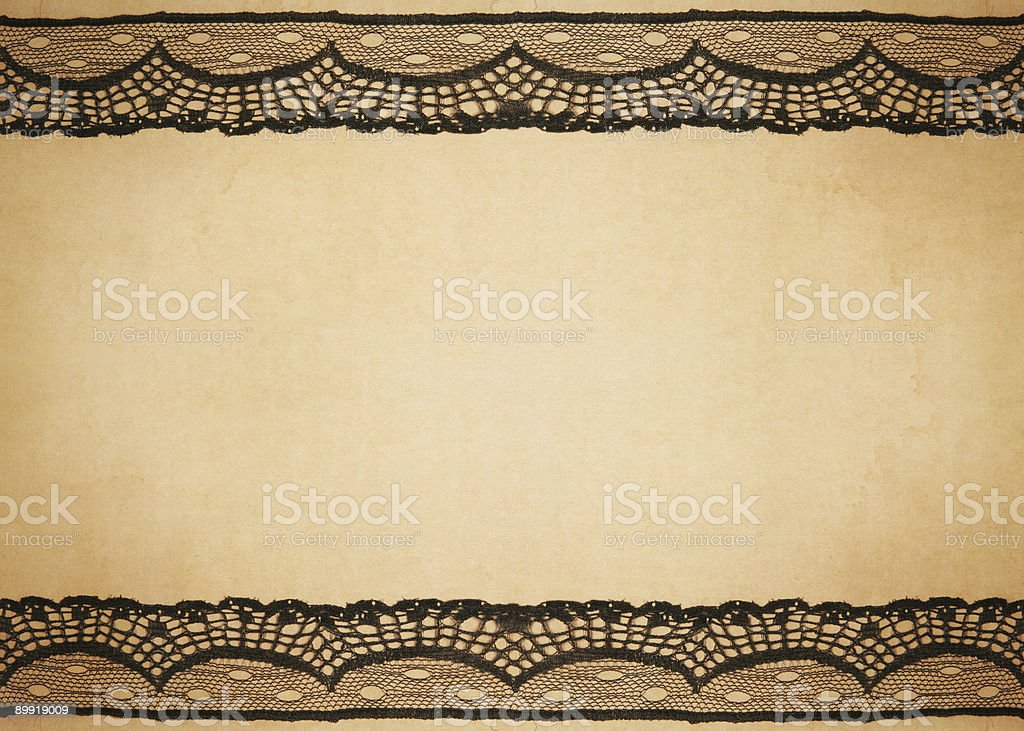 vintage paper with lace design stock photo