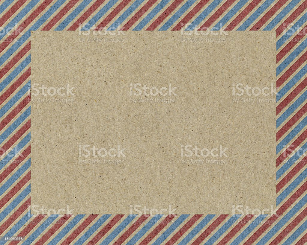 vintage paper with striped frame royalty-free stock photo