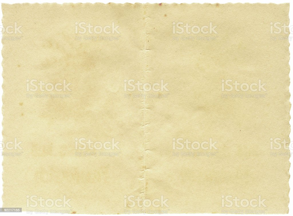 Vintage Paper With Wavy Edges royalty-free stock photo