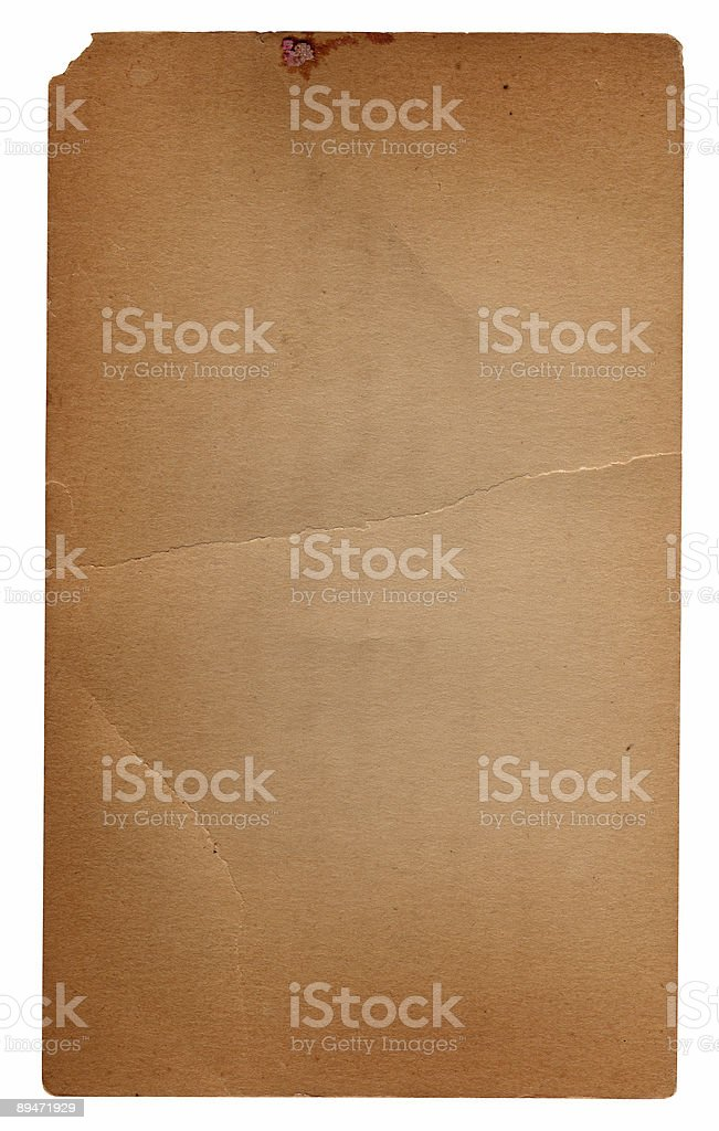 Vintage Papier/Notizkarte Lizenzfreies stock-foto